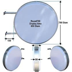 Round Double Sided Lightbox in 2 sizes